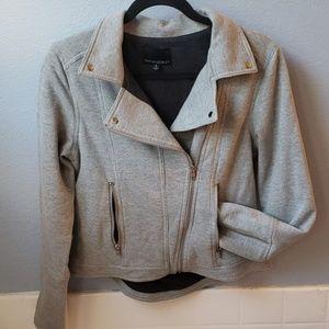 Cynthia Rowley sweatshirt cropped zip jacket